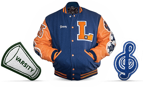letter jacket patches balfour premium letter jacket package balfour vt ny nh 8127