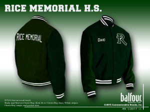 rice memorial high school vt letter jackets